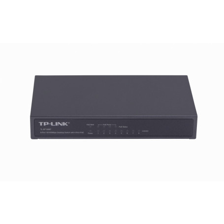 Switch no administrable POE TP-LINK TL-SF1008P TL-SF1008P TP-LINK 8-100(4-PoE48V-af) 53W-total Switch no-Admin no-Rack