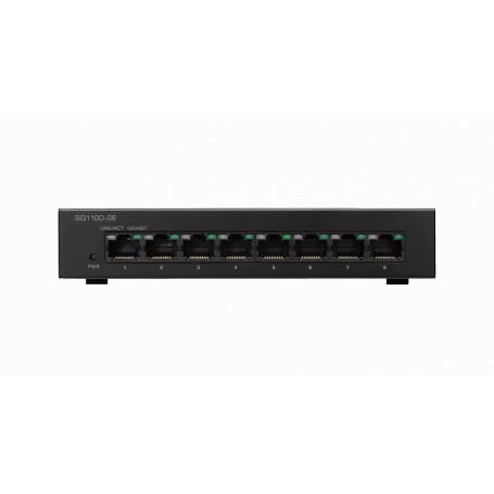 1000 no administrable Cisco SG110D-08 SG110D-08 CISCO 8-1000 Gigabit Switch Desktop no-Administrable no-Rack inc-12V