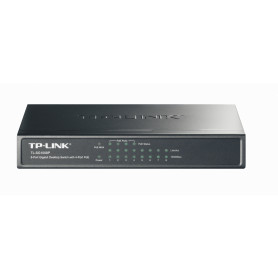 TL-SG1008P -TP-LINK 8-1000(4-PoE48V-af) 53W-total Switch no-Admin no-Rack