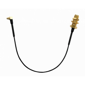 MMCX-SMABH-15 -RFEL MMCX-Macho RPSMA-Hembra/13mm Pigtail 15cm Cable-100 Interior