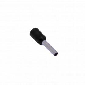 E1508-N -Negro 1,5mm2 8/15mm 100-unid AWG16 Ferrules Terminal Aislado Crimpeabl
