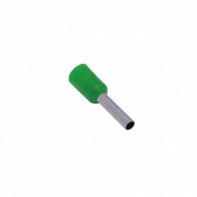 E1508-V -Verde 1,5mm2 8/15mm 100-unid AWG16 Ferrules Terminal Aislado Crimpeabl