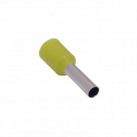 E2508-M -Amarillo 2,5mm2 8/15mm 100-unids AWG14 Ferrules Terminal Aislado Crimp