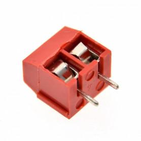 REGLETA-2PR -Rojo 16-Ampere 2-Pin Regleta-Tornillo 300V-Max 16A-Max AWG22-14 5,08mm