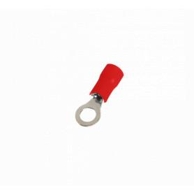 OJO-4315 -SUGO Ojo-4,3mm 0,5-1,5mm2-Cable 100-unids. Conector Rojo Aislado PVC