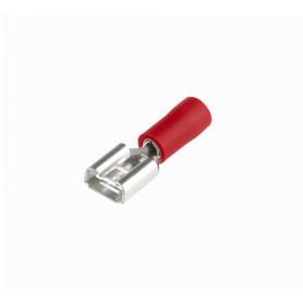 TFRH-65 -SUGO 6,35x0,5mm Rojo Hembra Semi-Aislado Faston 0,5-1,5mm2 100-un PVC