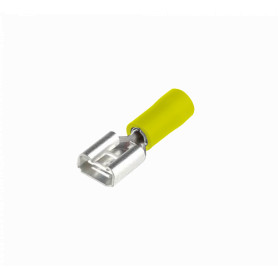 TFMH-68 -SUGO 6,35x0,8mm Amarillo Hembra Semi-Aislado Faston 4-6mm2 50-un PVC