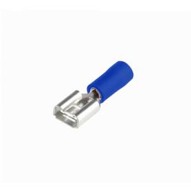 TFAH-68 -SUGO 6,35x0,8mm Azul Hembra Semi-Aislado Faston 1,5-2,5mm2 100-un PVC