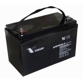 BTA12-100V - VISION Bateria 12V 100AMP AGM