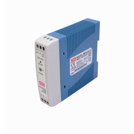 MDR-20-12 -MEANWELL 12VDC 20W 1,67A Riel-DIN FuentePoder Ajustable Ancho-24mm