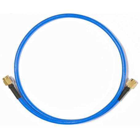 Cable coax armado Mikrotik ACRPSMA ACRPSMA -MIKROTIK RPSMA-M RPSMA-M UNIFILAR RIGIDO CABLE AZUL 50CM 6GHZ