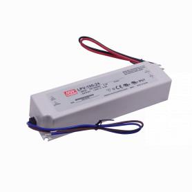 LPV-100-24 -MEANWELL 24V 100,8W 4,2A 100-240VAC Fuente-Poder Plastica IP67 Sellada