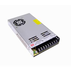 LRS-350-48 -MEANWELL 350W 48V 7,3A Ajust. Metalica Regleta Fuente Poder c/Vent.
