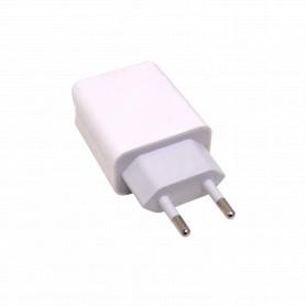 F5-W17-2USB -5V 3,4A 3400mA 17W 2-USB-AH Cargador Blanco 100-240V req-cables