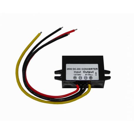 Transformador 5V 9V Generico DCDC-5V DCDC-5V -Conversor input:8-35VDC (in:12/24V) output:5VDC 5A 25W DC-DC Step Down
