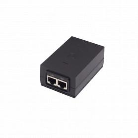 POE-48-24W -UBIQUITI PoE 48V 24W 2-RJ45 802.3af-ModeB-4/5-7/8 220V Req-Cable-Poder