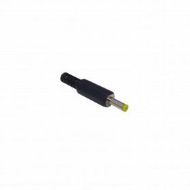 PLUG-1740 -Conector 4,0x1,75mm Largo-9mm Plug Alimentacion DC para Soldar