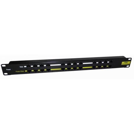 PoE pasivo Linkmade PPP12L PPP12L -LINKMADE PoE PatchPanel Pasivo req/Fuente 12-Puertos 24-RJ45 5,5x2,5mm