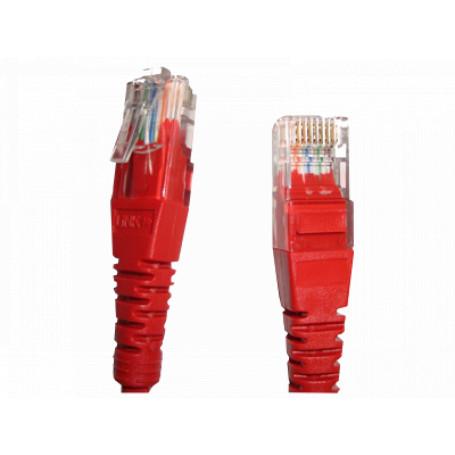 Cruzado Cat5e Cat6 Linkmade CP6CR-20L CP6CR-20L Cruzado 2mt Cat6 Rojo U/UTP Cable Patch CrossOver 568A/568B
