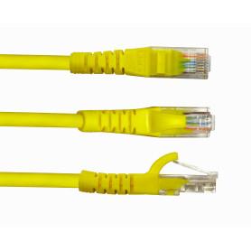 CPM-03-4 -LINKMADE 4un 30cm Cat5E Amarillo LSZH Cable Patch Inyectado Multifilar
