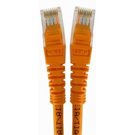 CPB-10L -LINKMADE 1MT CAT5E NARANJO CABLE PATCH INYECTADO MULTIFILAR