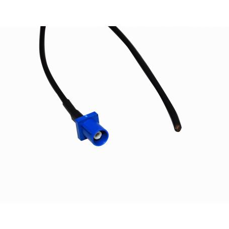 Cable coax armado Generico CA-FKM CA-FKM - Pigtail 100cm FAKRA-C-Macho Automotriz 1mt RG174-Negro