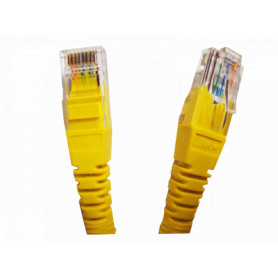 CPM-30L -LINKMADE 3MT CAT5E AMARILLO LSZH CABLE PATCH INYECTADO MULTIFILAR