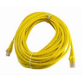 CPM-150L -LINKMADE 15MT CAT5E AMARILLO LSZH CABLE PATCH INYECTADO MULTIFILAR