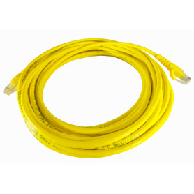 CPM-75L -LINKMADE 7,5MT CAT5E AMARILLO CABLE PATCH INYECTADO MULTIFILAR 7.5