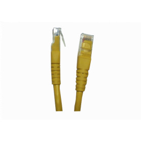 CP6M-10L -LINKMADE 1MT CAT6 AMARILLO CABLE PATCH INYECTADO MULTIFILAR