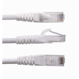 CP6W-100L -LINKMADE 10mt Cat6 U/UTP Blanco LSZH Cable Patch Inyectado Multifilar