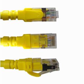 C6AM-20 -LINKMADE 2mt Cat6a U/FTP Amarillo LSZH Cable Patch Inyectado Multifilr