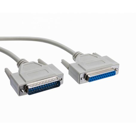 DB9 DE-09 / DB25 / CEN36 Generico DB25-MH DB25-MH -Cable DB25-Macho DB25-Hembra 1,5mt 150cm