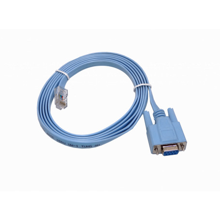 DB9 DE-09 / DB25 / CEN36 Generico RS232-RJ45 RS232-RJ45 Cable RJ45-Macho DB9-Hembra DE-09/H p/Puerto RS232 Consola Switch 1,8m
