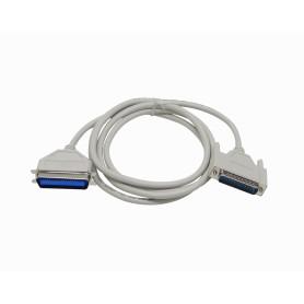 DB25CEN36 -Cable Paralelo 1,8mt p/Impresora DB25-Macho CEN36 Gris VW-1 Centronics