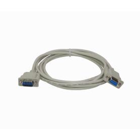 DB9-3HM -Straight 3mt DB9-Hembra-Macho 300cm Cable Serial Directo DE-09 RS232
