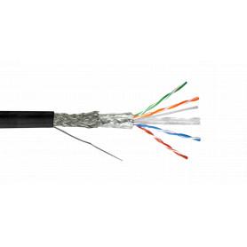 CBX6L-SFN3 -LINKMADE CABLE 305MT SF/UTP EXTERIOR CAT6 NEGRO UNIFILAR