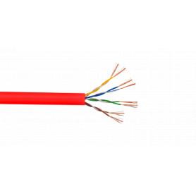 CBP-MR3 -PRESTOM Cable UTP Multifilar Rojo 305mts CAT5E Cobre 4-Pares