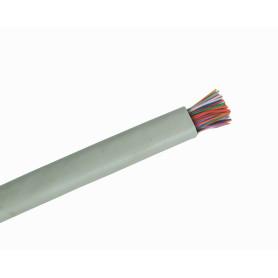 25P-XMT -CABLE por-metro 25-Pares 50x24AWG Interior Cat3 UTP Unifilar Gris