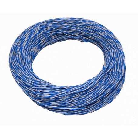 Telefonico Generico J100-2C J100-2C -Jumper Azul/Blanco 24-26AWG 100mt Aleacion CCA UTP 1-par
