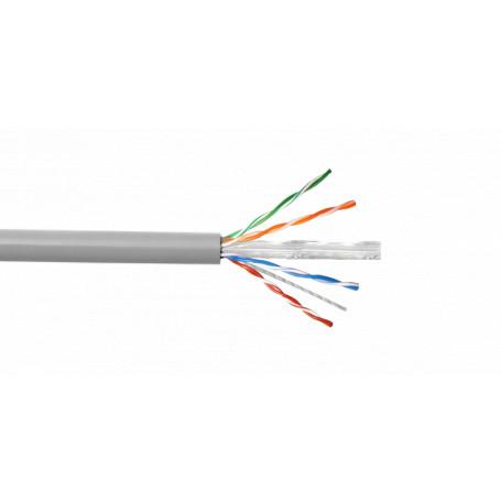 Unif. cat6 cobre LinkChip CB6U-UG3 CB6U-UG3 AWG23/0,57mm Cat6 PVC Gris Cable UTP 305mt Cobre