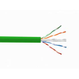 CBAL-UV3 -LINKMADE Verde U/UTP CAT6A 4x2x23AWG LSZH Unifilar caja 305mt Cobre