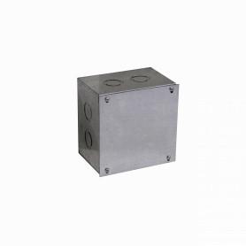 FPCWM-4 -Caja 150x150x100mm c/Tapa-155x155mm Zincada Metalica