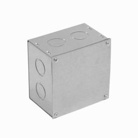 FPCWM-3 -Caja 100x100x65mm c/Tapa-102x102mm Zincada Metalica
