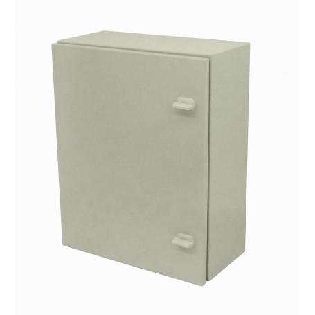 Caja Gabinete Metal Generico SA7535 SA7535 -SAIME 500x400x200mm 2-chapas-sin/Llave Caja Metalica IP54 Beige