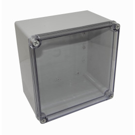 TJ-AT-2020 -TIBOX 200x200x130mm Tapa-Transparente Caja-Gris Plastica IP66 RoHS