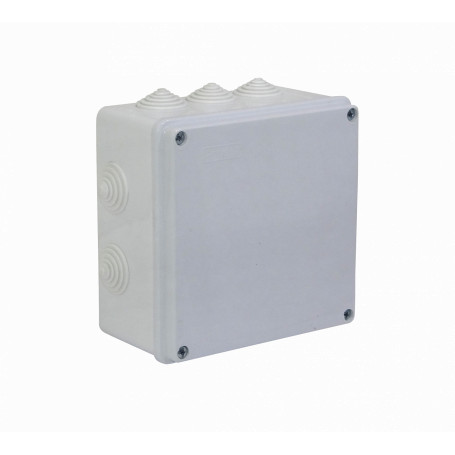Caja Gabinete Plastico Generico MGC-2 MGC-2 -MEC 150x150x80mm Caja Estanca Blanca IP54 10-Conos 4-Tornillos
