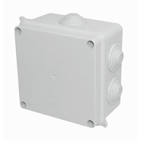 Caja Gabinete Plastico Generico MGC-1 MGC-1 MGC 100x100x70mm Caja Estanca Blanca IP65 CE 7-Conos 4-Tornillos