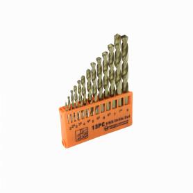 BROCAS-METAL-13 -MAKAWA Brocas Metal 2-2,5-3-3,5-4-4,5-5-5,5-6-6,5-7-7,5-8mm Juego-13un