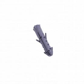 TARUGO-6MM -Tarugo 6mm 100-Unids. Plastico Gris 6x30mm